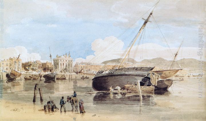 Weymouth Harbour.THOMAS GIRTIN