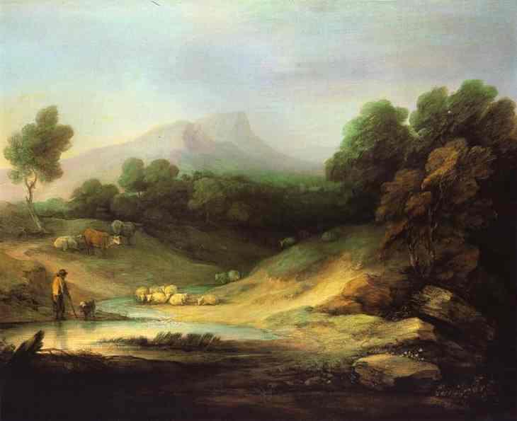 Mountain-Landscape-With-Shepherd-1783-Thomas-Gainsborough-Oil-Painting-1